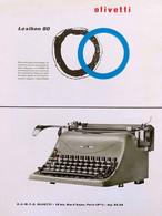 Publicité Papier TYPEWRITER MACHINE A ECRIRE OLIVETTI LEXICON 80  Janvier 1952 RE P1057343 - Werbung