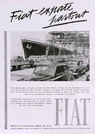 Publicité Papier VOITURE FIAT  Octobre 1951 RE P1057084 - Pubblicitari