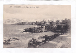 CPA :  14 X 9  -  BEYROUTH  Sous La  Neige, 11 Février  1920 - Lebanon