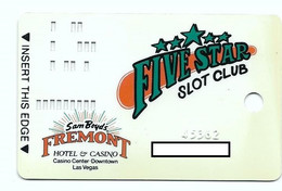 Fremont Casino, Las Vegas, NV, U.S.A, Older Used Slot Or Player's Card,  # Fremont-1 - Casinokarten