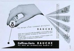 Publicité Papier BAUCHE COFFRE-FORT  Avril 1951 RE P1057205 - Werbung