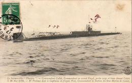Le Submersible PLUVIOSE  Commandant Callot Perdu Corps Et Biens Devant Calais Le 26 Mai 1910 - Onderzeeboten