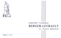Buvard Berger-Levrault, Librairie Classique - L
