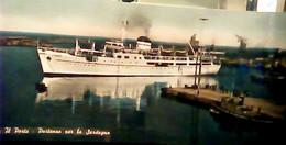 Civitavecchia Porto Nave Ship Ferry Calabria In Partenza X Sardegna Rimorchiatore   VB1956 IF9376 Lunga  20,5 X 9 - Civitavecchia