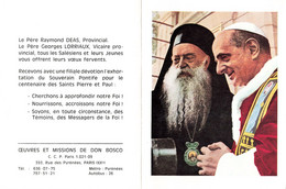 Calendrier 1968 Don Bosco  Religion Le Père Raymond Deas Provincial Le Père Georges Lorriaux Vicaire Provincial - Small : 1961-70