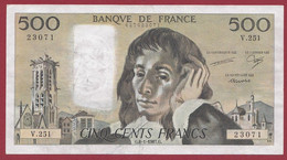 """France 500 Francs """"Pascal"""" Du 08/01/1987.G--ALPH.V.251 --  .dans L 'état (P.206) - 500 F 1968-1993 ''Pascal''"""