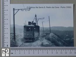 PORTUGAL - O ELETRICO NA SERRA S. PEDRO DA COVA -  PORTO -   2 SCANS  - (Nº44806) - Porto