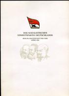 "DDR 1981 Propaganda Gedenkblatt X.Parteitag Der SED Mi.Nr.2595/98,Block 63""m.SST""1085 Berlin ""1 Big Klappkarte - Briefe U. Dokumente"
