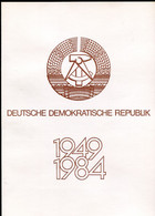 "DDR 1984 Big Propaganda Gedenkblatt Mi.Nr.2888/89+Bl.77.""35 Jahre DDR ""mit ESST""1085  Berlin ""1 Big Klappkarte - Briefe U. Dokumente"