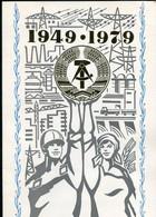 "DDR 1979 Propaganda Gedenkblatt Mi.Nr.2458/61 U.Block 56 ""30 Jahre DDR,GDR"" Mit ESST""1085 Berlin ""1 Big Klappkarte - Briefe U. Dokumente"