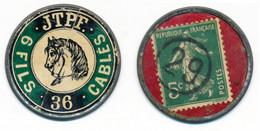 TIMBRES-MONNAIE // LILLE // JTPF CABLES // 5 Centimes Vert Sur Fond Rouge // VARIETE - Autres