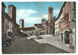 AA1271 Città Di San Gimignano (Siena) - Piazza Della Cisterna - Auto Cars Voitures / Viaggiata 1957 - Altre Città