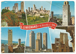 AA1272 Città Di San Gimignano (Siena) - Le Belle Torri - Panorama Vedute Multipla / Viaggiata 1978 - Altre Città