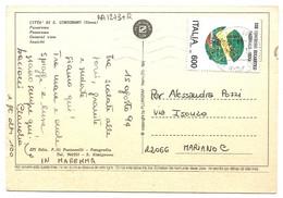 AA1273 Città Di San Gimignano (Siena) - Panorama - Nice Stamp Timbres Francobolli / Viaggiata 1994 - Altre Città