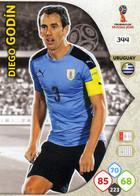 Trading Cards Panini Football Fifa World 2018 Russia Adrenalyn Uruguay 344 Diego Godin - French Edition