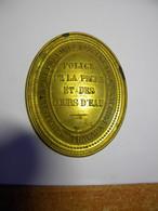 Plaque De Garde Police De La Pêche Et Cours D'eau Ministère Travaux Publics - Sonstige