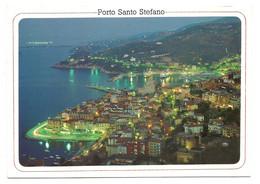 AA1284 Monte Argentario (Grosseto) - Porto Santo Stefano - Panorama Notturno Notte Nuit Night Nacht / Viaggiata 1988 - Altre Città