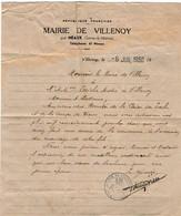 VP18.220 - Mairie De VILLENOY Par MEAUX 1950 - Lettre Du Maire à Mr & Mme André LERICHE - Collections