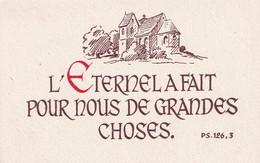 """Souvenir De Confirmation - Petit Format  - """" L'Eternel A Fait Pour Nous De Grandes Choses """" - Imágenes Religiosas"""