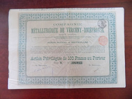 Action Compagnie Métallurgique De Verchny-Dniéprovsk - Industry