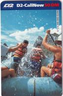 GERMANY - Rafting, D2 Prepaid Card 50 DM, Exp.date 04/01, Used - Sport