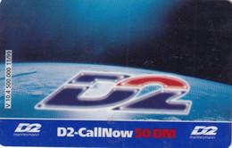 GERMANY - Space, D2 Prepaid Card 50 DM, Exp.date 11/01, Used - Spazio