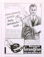 Publicité Papier STENOTYPIE GRANDJEAN  Octobre 1951 RE P1057138 - Werbung