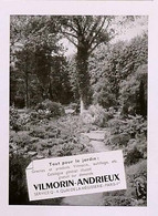 Publicité Papier VILMORIN-ANDRIEUX JARDIN  Mars 1954 RE P1057493 - Werbung