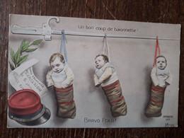 L38/1022 BRAVO POILU . UN BON COUP DE BAIONNETTE . ILLUSTRATEUR MORINET - Humour
