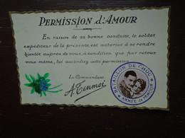 """Permission D'amour """""""" Bataillon De Choc , Armée De L'amour """""""" - Humour"""