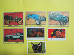 Manama Lot Of 7 Different Stamps - Bahrein (1965-...)