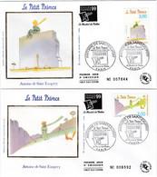 France FDC Premier Jour Soie 1998 5 Enveloppes Petit Prince Saint-Exupéry 3175 à 3179 - 1990-1999