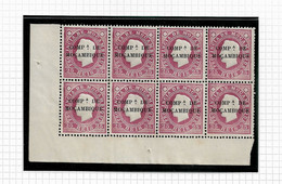 MOZAMBIQUE COMPANY STAMP - 1892 Mozambique Postage Stamps Overprinted BLOCK (LNY-48) - Mozambique