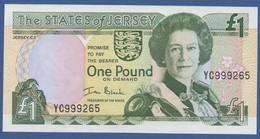 JERSEY - P.26a – 1 POUND ND (2000) UNC Serie YC999265 - Jersey