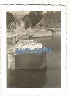 WW2 PHOTO ORIGINALE ALLEMANDE Pont Ko COURCELLES SUR SEINE Près Gaillon Aubevoye Les Andelys EURE 27 Vernon Rouen - 1939-45