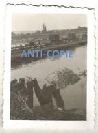 WW2 PHOTO ORIGINALE Soldat Allemand Pont Génie COURCELLES SUR SEINE P. Gaillon Aubevoye Les Andelys EURE 27 Vernon Rouen - 1939-45
