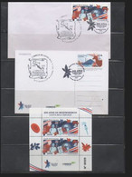 Costa Rica 2021 Bicentenary Independence Sheet + Cancellations + Postcard - Costa Rica