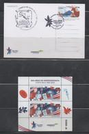Costa Rica 2021 Bicentenary Independence Sheet + Postcard Buterflies Birds - Costa Rica
