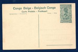 Congo Belge. Entier Postal Illustré. 1922. 15 C Vert. Vue N°. 77. Tennis De L'Union Minière Du Haut-Katanga - Entiers Postaux