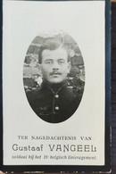 DOODPRENTJE -GUSTAAF VANGEEL(° PAEL1892 /+ ANTWERPEN 1914) (dp 33) - Overlijden