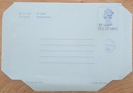 Ile De Man - Entier Postal - AEROGRAMME - REINE ELIZABETH - 12p Uprated 2p - Neuf - Man (Ile De)