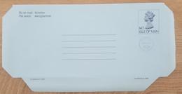 Ile De Man - Entier Postal - AEROGRAMME - REINE ELIZABETH - 14p1/2 Uprated 5p1/2 - Neuf - Man (Ile De)
