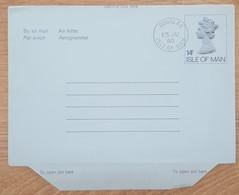 Ile De Man - Entier Postal - AEROGRAMME - REINE ELIZABETH - 14p - Oblitéré - Man (Ile De)