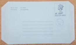 Ile De Man - Entier Postal - AEROGRAMME - REINE ELIZABETH - 14p Uprated 6p - Neuf - Man (Ile De)