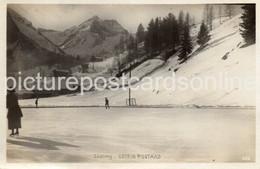 SKATING GSTEIG GSTAAD OLD R/P POSTCARD SWITZERLAND - BE Berne