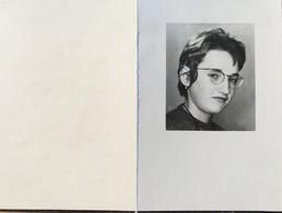 DOODPRENTJE - HILDA MARIA VANDEWOUWER(° GEEL 1949 /+ GEEL 1965 (dp 36 )) - Overlijden