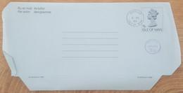 Ile De Man - Entier Postal - AEROGRAMME - REINE ELIZABETH - 11p Uprated 3p1/2 - Oblitéré - Man (Ile De)
