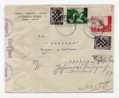 1942. WWII NDH,CROATIA,ZAGREB TO GERMANY,CENSORED COVER - Croazia