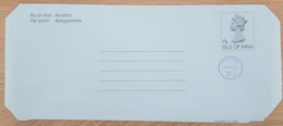 Ile De Man - Entier Postal - AEROGRAMME - REINE ELIZABETH - 11p Uprated 3p1/2 - Neuf - Man (Ile De)