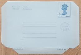 Ile De Man - Entier Postal - AEROGRAMME - REINE ELIZABETH - 6p Uprated 4p1/2 - Neuf - Man (Ile De)